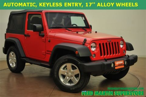 Certified Used Jeep Wrangler Sport